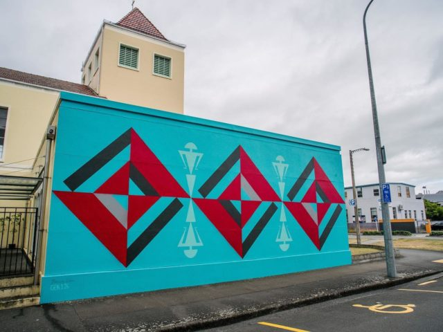 Benjamin Work - Tonga / Auckland 🇹🇴 🇳🇿 @benjaminwork . Final Mural for Street Prints Papaioea - Located on the corner of Ashley and Church Streets, Palmy . Repost by Ben .  Eternal Reflection @street_prints Papaioea Gen1:26 . . Welcomed by Rangitāne Ō Manawatū people of these lands. Thank you to the Street Prints team and Palmerston North City Council for making this happen. And to the people of St. Andrews in the city, for your trust in the process. 'Ofa atu . . 📷 @yoshi_travel 👈🏼 #benjaminwork #streetprints #streetprintspapaioea #palmy #yoshitravel #resene #streetart #mural #genesis #reflection #eternalreflection #tonga #nz @the_most_dedicated @ironlak