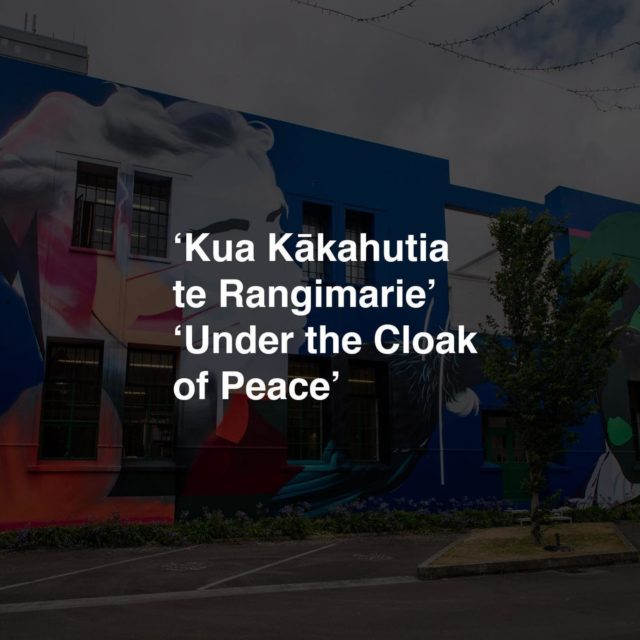 Street Prints Papaioea 2020 - Palmerston North . Theme: 'Kua Kākahutia te Rangimarie' 'Under the Cloak of Peace' . Rangimārie - Quite, Peaceful . Our sixth International Street Art Festival in Palmerston North shared the theme of the Protection of all People and Peace for all. . Today we march peacefully against Systemic Racism. . Artists Involved; Fin DAC - Dublin / Ireland @findac Millo - Rome / Italy @_millo_  Insane51 - Athens / Greece @insane51  Mayonaize - Melbourne / Australia @mayonaize  Eric Skotnes - Los Angeles / USA @zoueh_skotnes @anggiez24  Helen Proctor - Amsterdam / Netherlands @helen__proctor  Koryu - Japan @koryu88  Benjamin Work - Tonga / Auckland @benjaminwork  Amanda Valdes - Miami / USA @amandalvaldes  Askew One - New York / Auckland @askewone Charles Williams - Auckland / NZ @charles_phat1tmd  Janine Williams - Auckland / NZ @janine_divatmd  Chimp One - Wellington / NZ @chimp.one  Swiftmantis - Palmerston North / NZ @swiftmantis  Ephraim Russell - Palmerston North / NZ @ephraimrussell  Israel Birch - Palmerston North / NZ @israel_tangaroa_birch  Gembol - Palmerston North / NZ @gemsbowl  Mel Xmas - Palmerston North / NZ @mel_xmas  Heneriata Te Whata - Palmerston North / NZ @approved_vandal . #streetprints #streetprintspapaioea #streetart #rangimarie #peace #protest #blm #blacklivesmatter #cloak #racism #fuckracism
